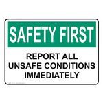 Safety Awareness and Compliance Signs
