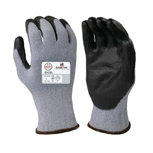 Armor Guys BASETEK® Gloves, Black PU Palm Coat, Cut Level A6