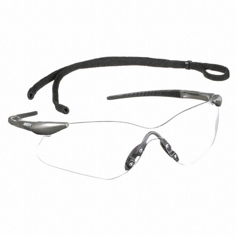 Nemesis™ VL Safety Glasses, Gunmetal Frame, Clear Lens