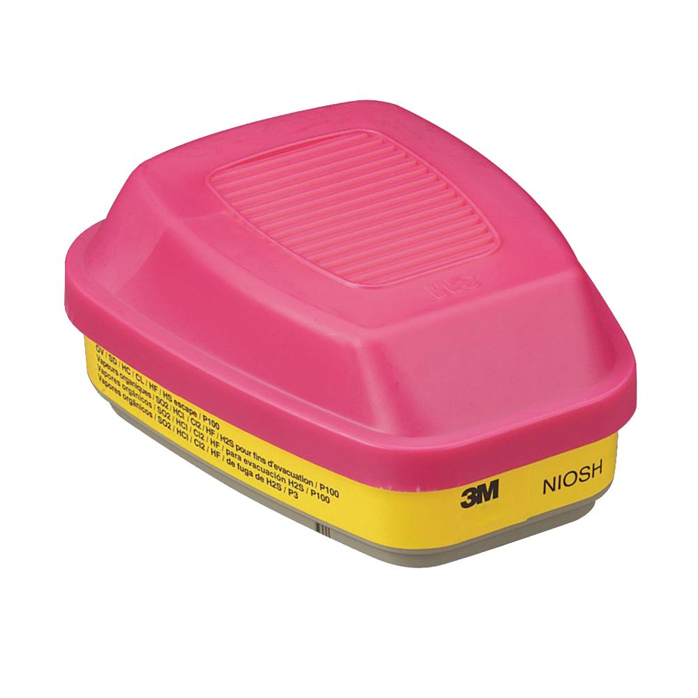 3M™  60923 Organic Vapor/Acid Gas Cartridge/Filter, P100