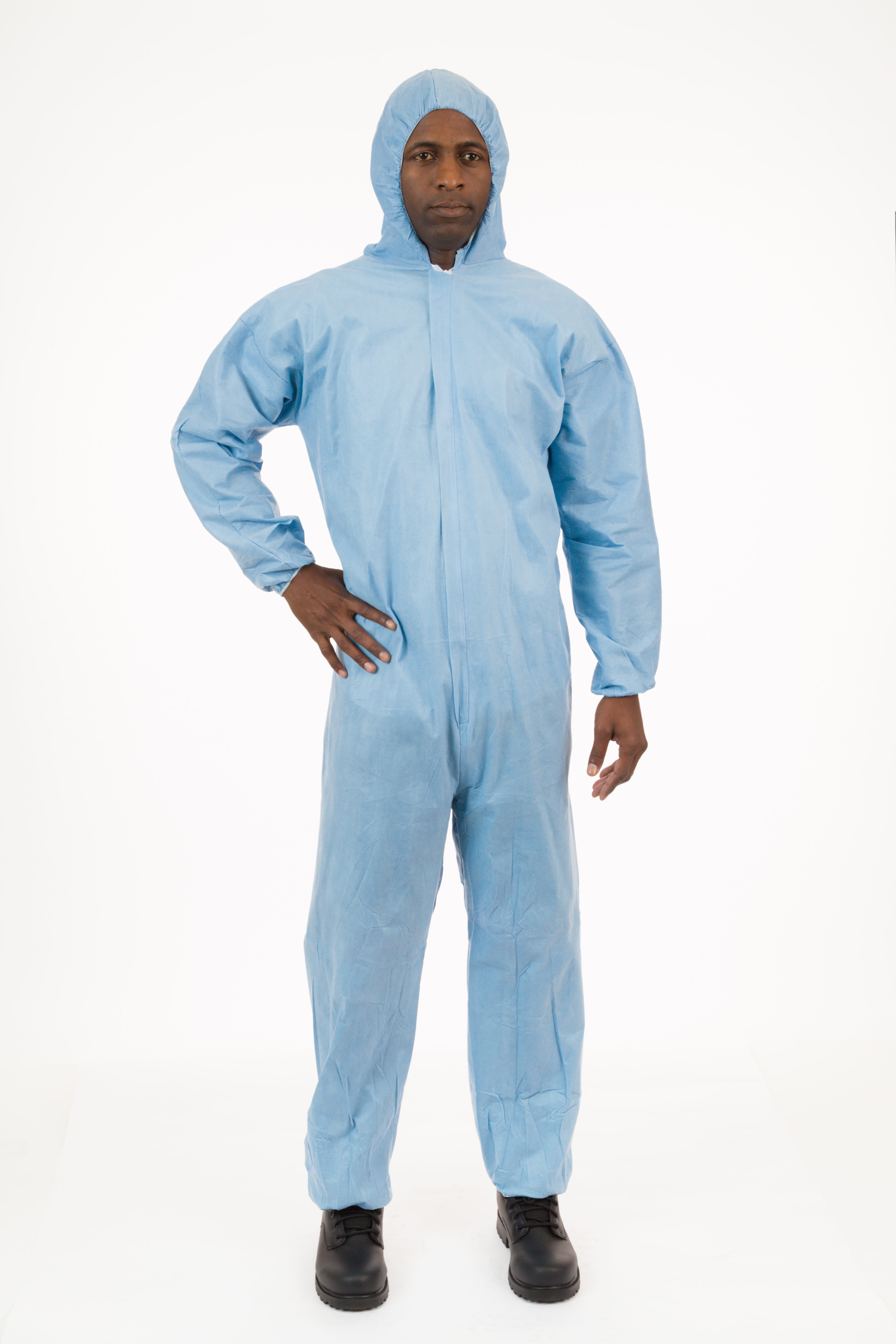 International Enviroguard - 9015 PyroGuard FR® Outerlayer FR Coverall, Attached Hood, Elastic Wrist, Elastic Ankle