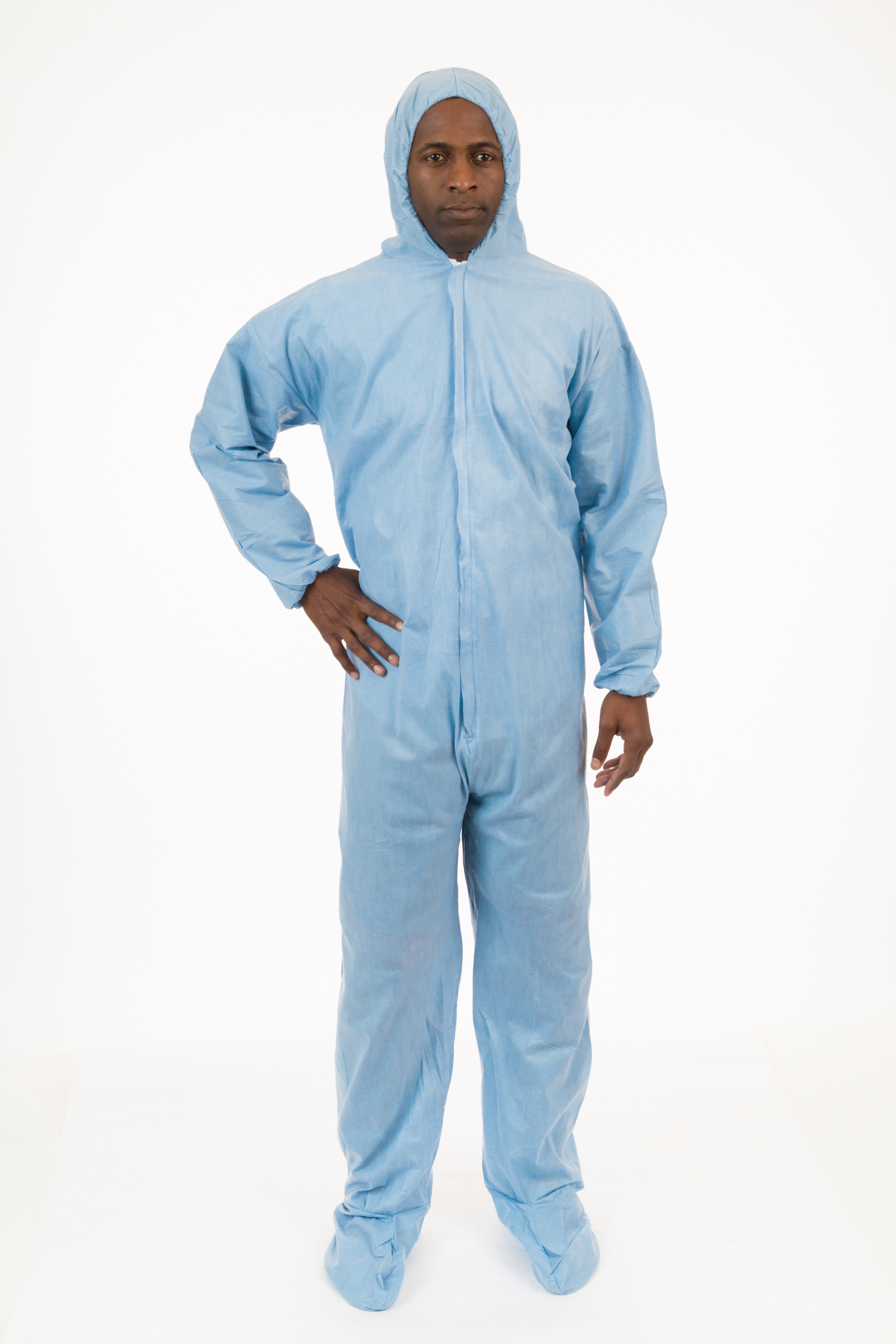 International Enviroguard  - 9019 PyroGuard FR® Outerlayer FR Coverall, Attached Hood & Boot