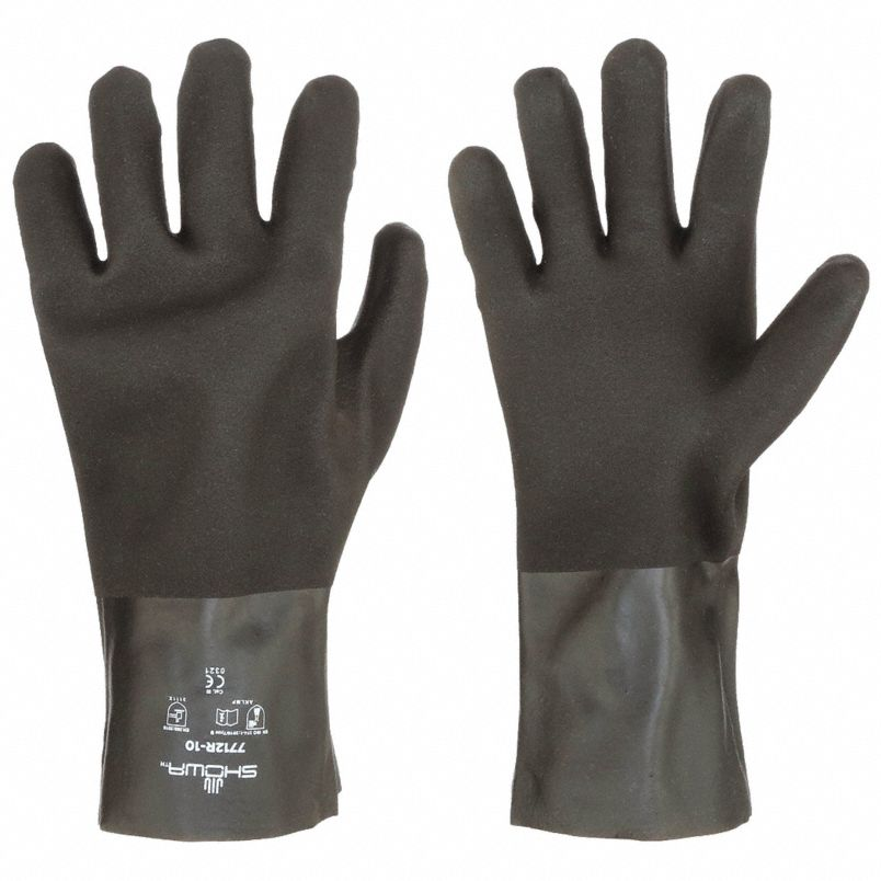 Showa™ (7712R) Lined Chemical Resistant Gloves, 12