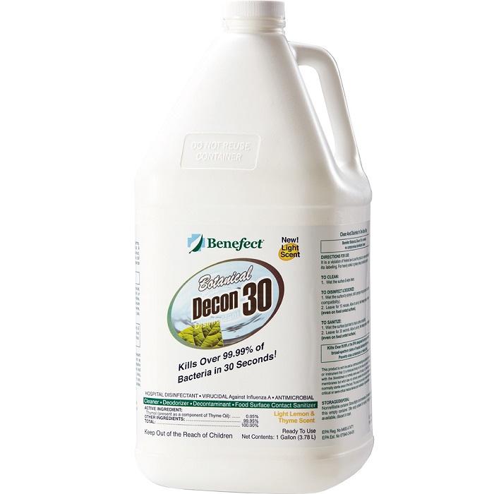 Benefect® Botanical Decon 30 - 1 Gallon - Light Lemon/Thyme -  Liquid -  Clear