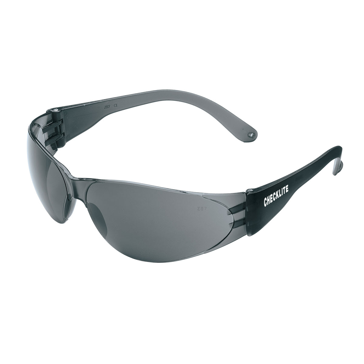 Checklite® CL1 Series Safety Glasses, Smoke Temples, Gray Lens