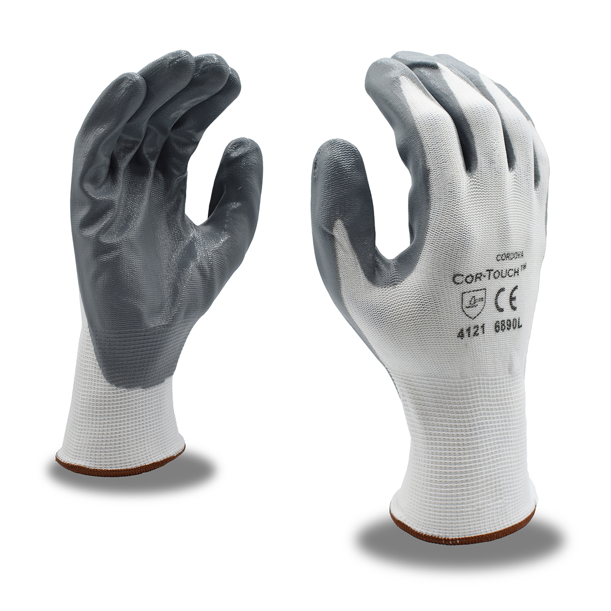 Cordova 6890 Cor-Touch™ 13-Gauge Flat Nitrile Palm Coated Gloves