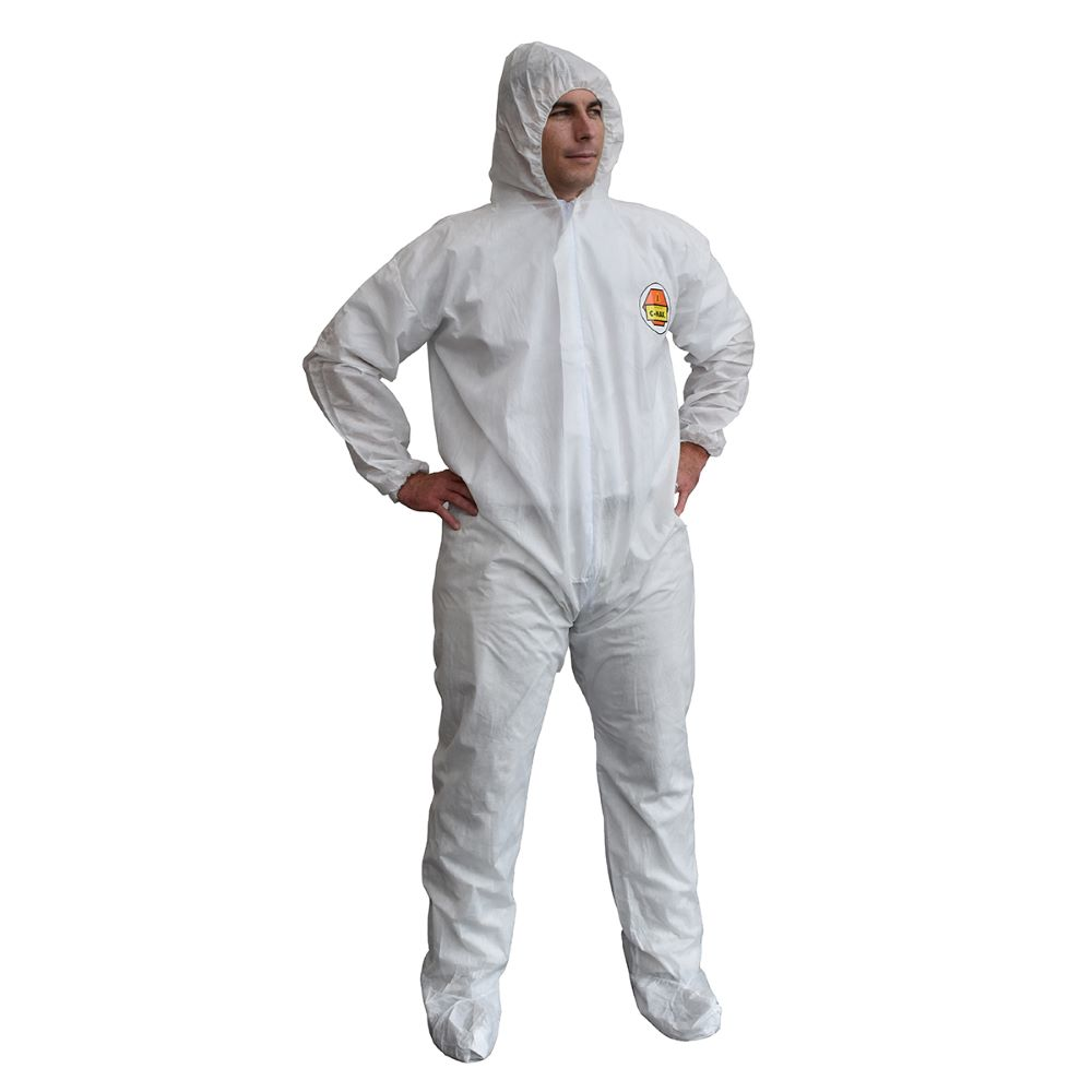 Cordova C-MAX™ SMS400 Disposable Coveralls, Attached Hood & Boots
