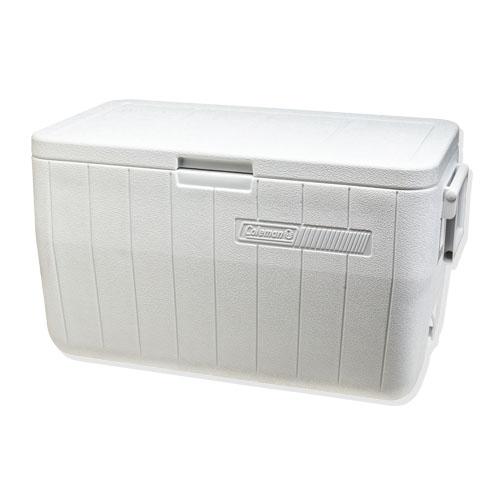Coleman 48 Qt White Performance Marine Cooler, UV Treated