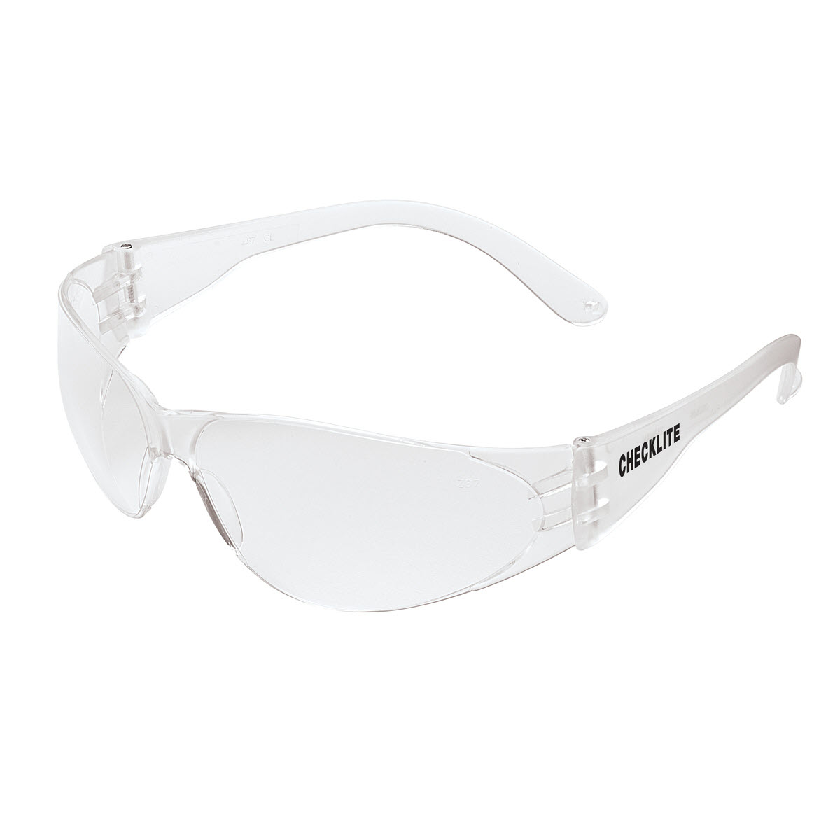 Checklite® CL1 Series Safety Glasses, Clear Temples and Lens