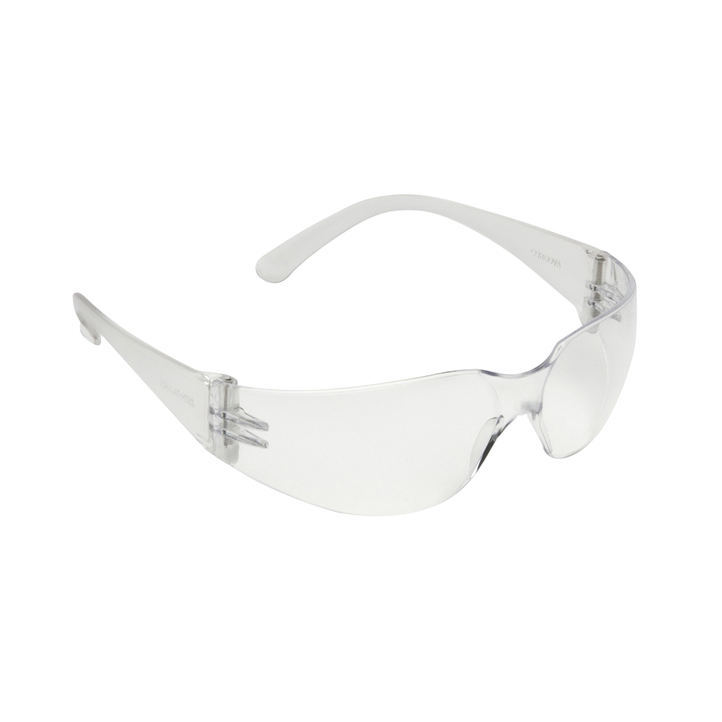 Cordova Bulldog™ Safety Glasses, Clear Temple, Clear Lens