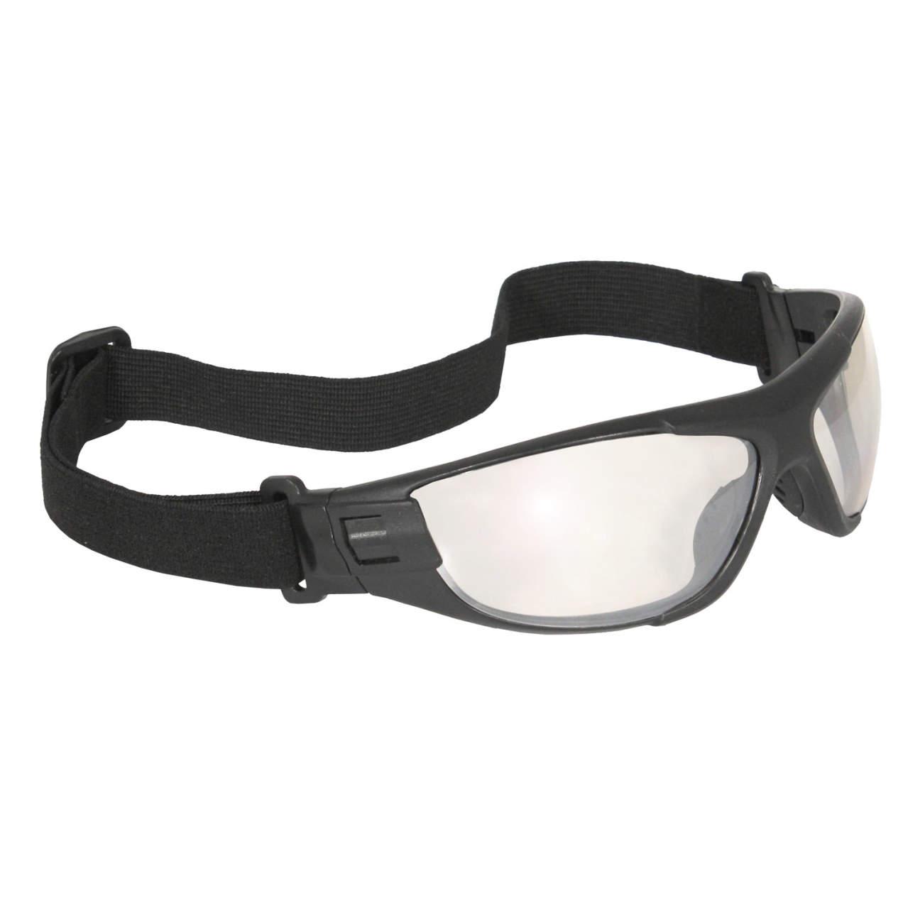 Radians® Cuatro™ 4-in-1 Protective Goggles, Foam Lined, Black Frame, I/O AF Lens