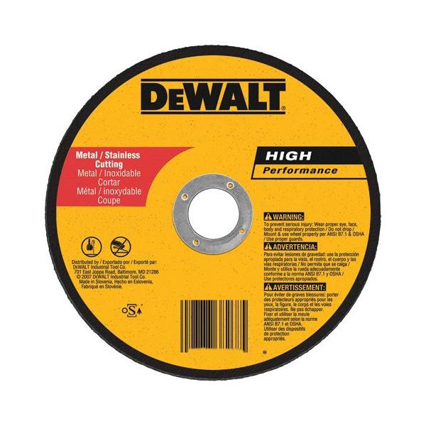 DeWALT® DW8725 Type 1 Cut-Off Wheel -  6 in Dia x 0.04 in THK -  7/8 in -  A60T Grit -  Aluminum Oxide Abrasive