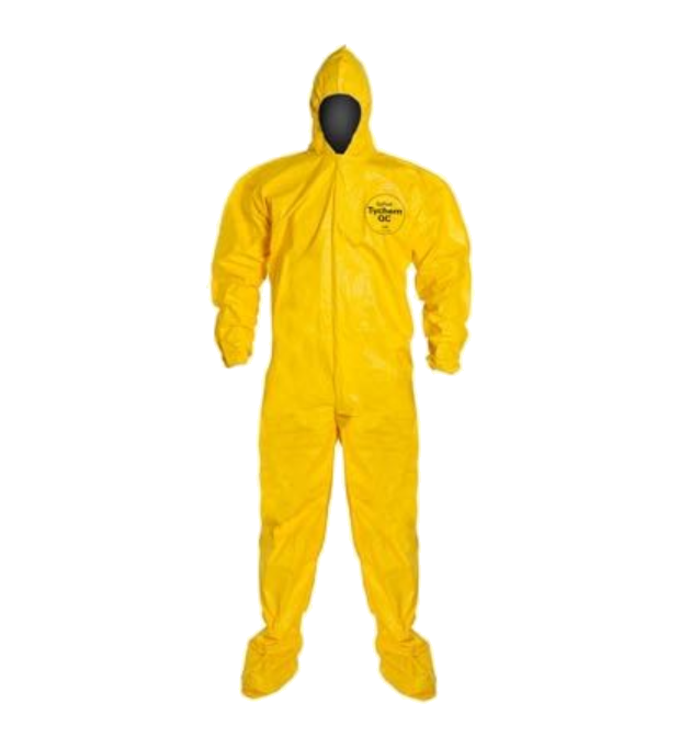 DuPont™ Tychem® 2000, Disposable Coverall with Attached Hood and Socks, 12/cs