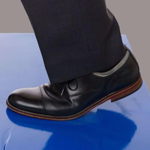 Enviromat® Floor Protection Tacky Mat, Blue w/Adhesive, 18