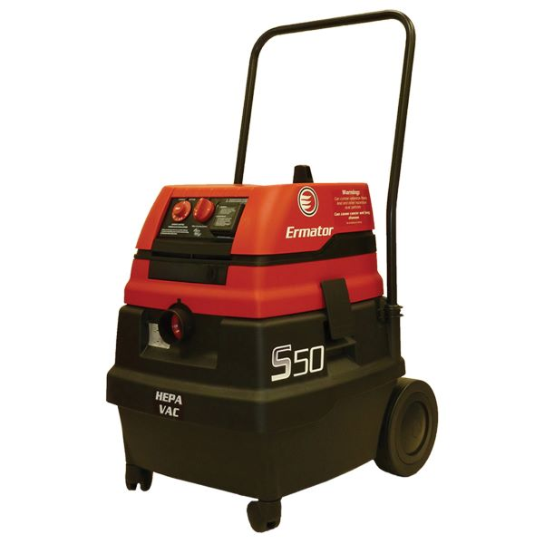 Pullman Ermator 200800094A Wet/Dry Vacuum With Power Tool Outlet -  14 gal -  1.7 hp -  9.8/4.9 A -  120/230 VAC