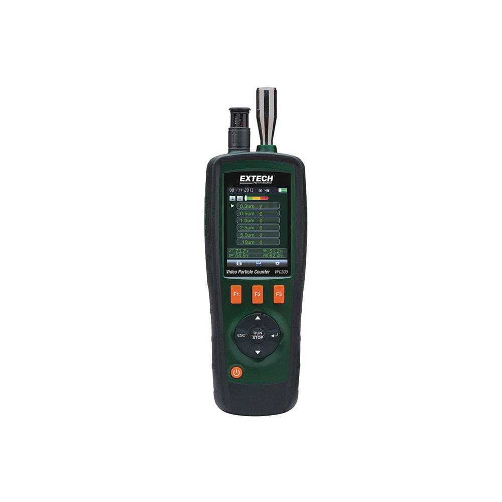 EXTECH® VPC300 Video Particle Counter -  6 Channels -  0.3 -  0.5 -  1 -  2.5 -  5 and 10 um Particle -  0.1 cu-ft -  0.3 micron