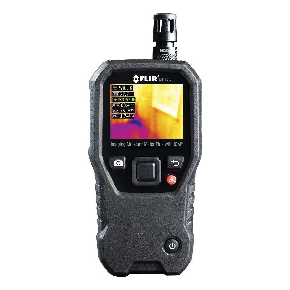 FLIR® MR176 Imaging Moisture Meter -  0 - 100% Moisture Content -  +/-1.5% -  2.3 in 64K Color TFT Graphical Display