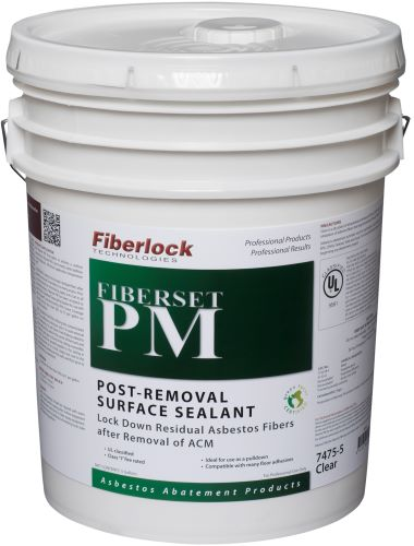 Fiberlock 7475-5 Post Removal Surface Sealant -  5 gal -  Clear -  1 - 2 hr Touch -  1 - 2 hr Recoat Dry Time -  Very Slight
