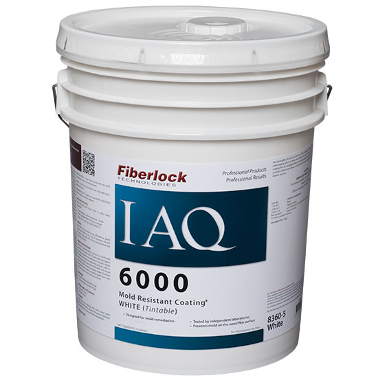 Fiberlock IAQ 6000 Mold Resistant Coating, 5 Gallon