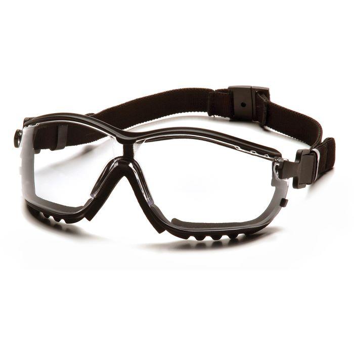 Pyramex® V2G® Protective Goggles, Black Frame, Clear H2X Anti-Fog Lens