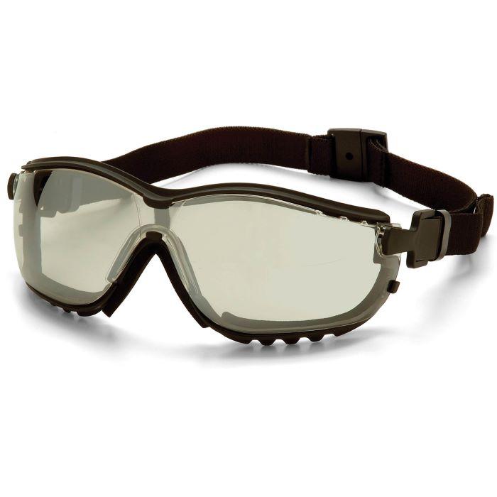 Pyramex® V2G® Protective Goggles, Black Frame, I/O Mirror Anti-Fog Lens