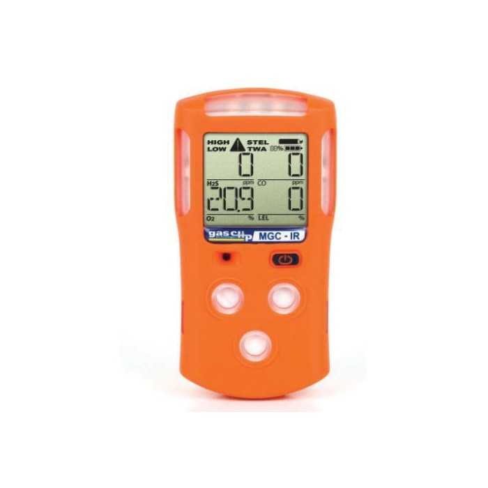 Gas Clip Multi-Gas Clip With IR Sensor -  CO/H2S/LEL/O2 -  Audible/Visual/Vibrating Alarm -  Lithium-Ion Battery