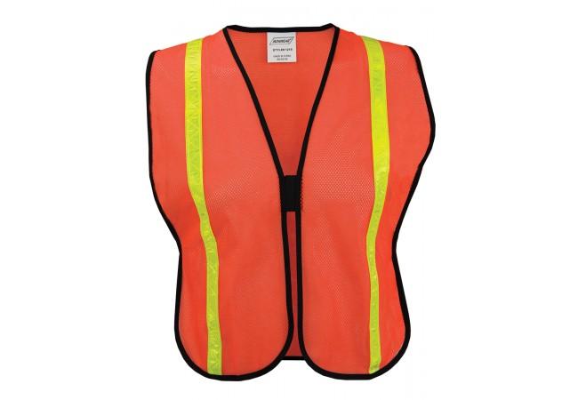 Ironwear® (1215) Economy Safety Vest, Polyester Mesh, Orange