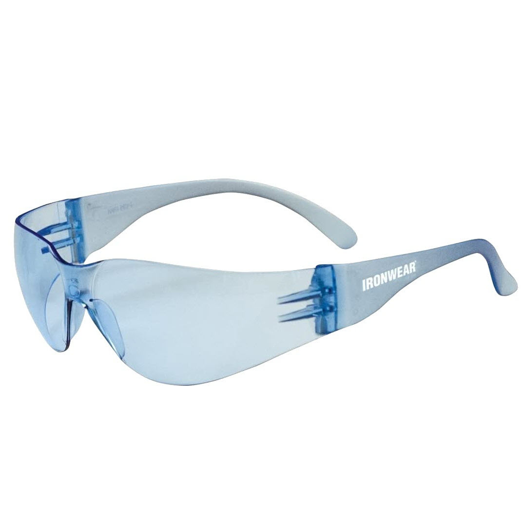Ironwear® Harmony Safety Glasses, Blue Frame and Lens