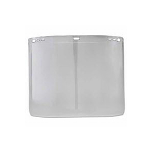 Jackson® Safety F20 Polycarbonate Faceshield, Clear, .06 mil Thickness, D Shape