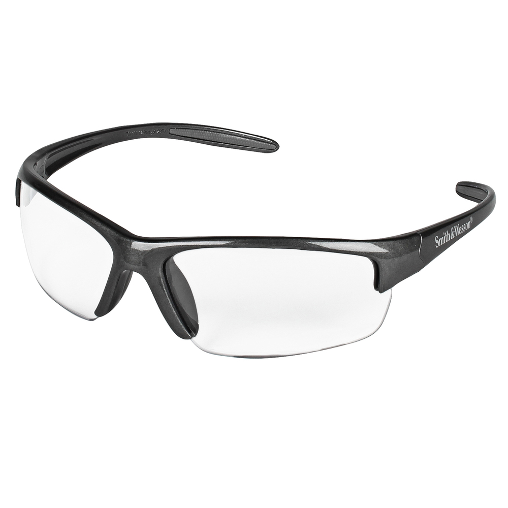 Smith & Wesson® Equalizer® Safety Glasses, Gunmetal Frame, Clear Lens