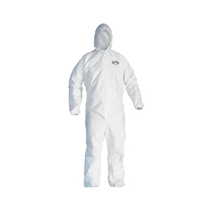 KleenGuard* 49117 Breathable Light Weight Disposable Coverall -  4XL -  32-3/4 in Chest -  42 in Inseam -  White -  SMS Fabric