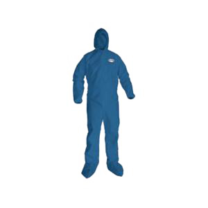 KleenGuard* 58526 Breathable Light Weight Disposable Coverall -  3XL -  31-3/4 in Chest -  33-3/4 in Inseam -  Blue -  SMS Fabric