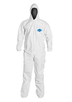 PERMAGARD II™ Microporous Coverall with Hood/Boots, Elastic Wrist, White