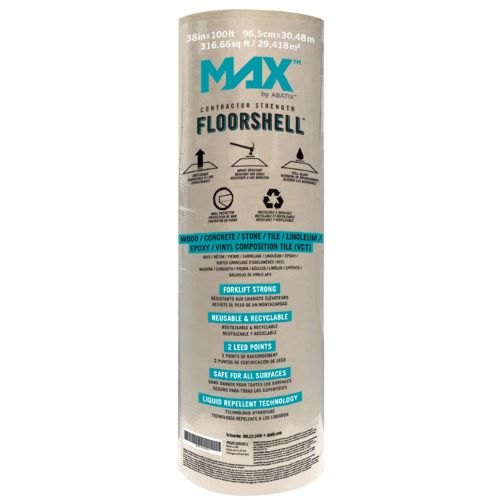 MAX™ by ABATIX™ Contractor Strength Floorshell, 38' x 100'