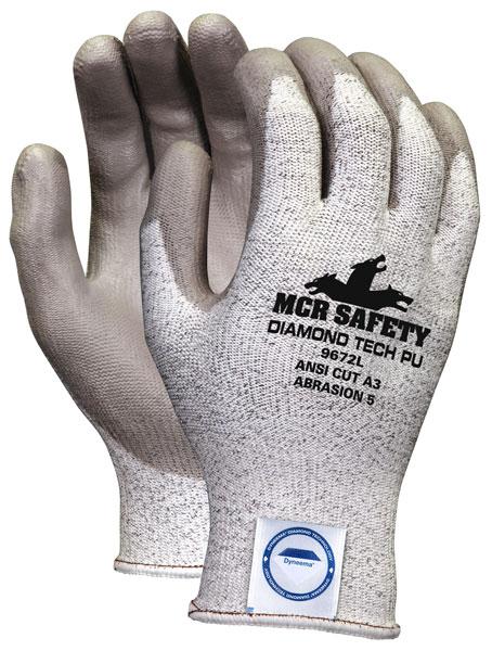 MCR Safety Cut Pro™ (9672) Gloves, Diamond Tech PU Coat, Cut Level A3