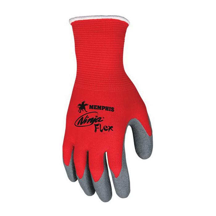 Ninja® N9680 Flex Work Gloves 15 Gauge, Latex Coated Palm and Fingertips