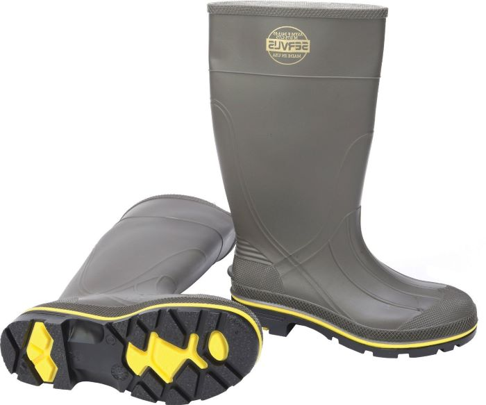 Servus by Honeywell® 75101 PVC Footwear, Waterproof Knee Boots, Steel Toe, 15