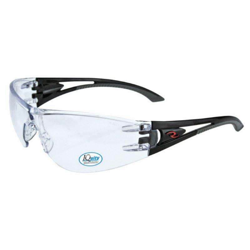 Radians® Optima™ IQ - IQUITY™ Anti-Fog Safety Glasses, Black Frame, Clear Lens