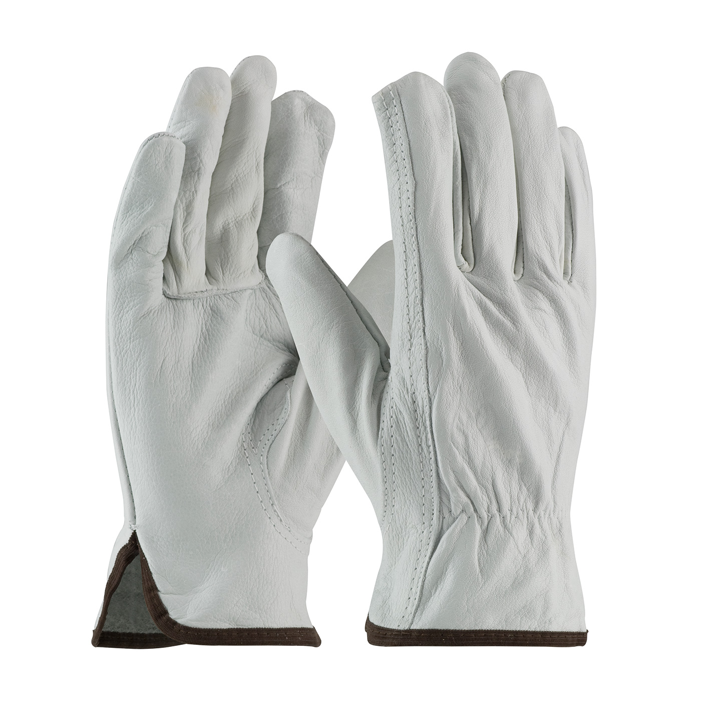 PIP® 68-162 Economy Grade Drivers Gloves -  L -  Top Grain Cowhide Leather Palm -  Natural -  Keystone Thumb