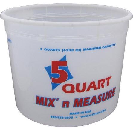 Encore Plastics Paint Mix-n-Measure Container, 5qt