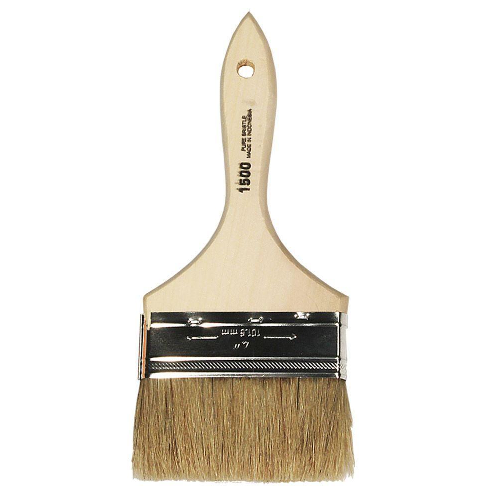 White China Bristle Chip Brush - 4 inch
