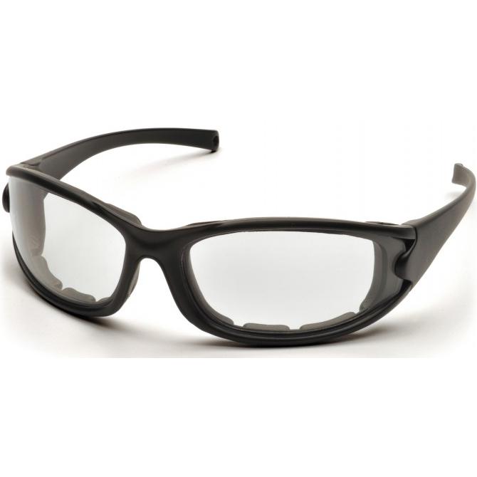 Pyramex® PMXCEL® Safety Glasses, Black Frame w/Strap, Clear Anti-Fog Lens