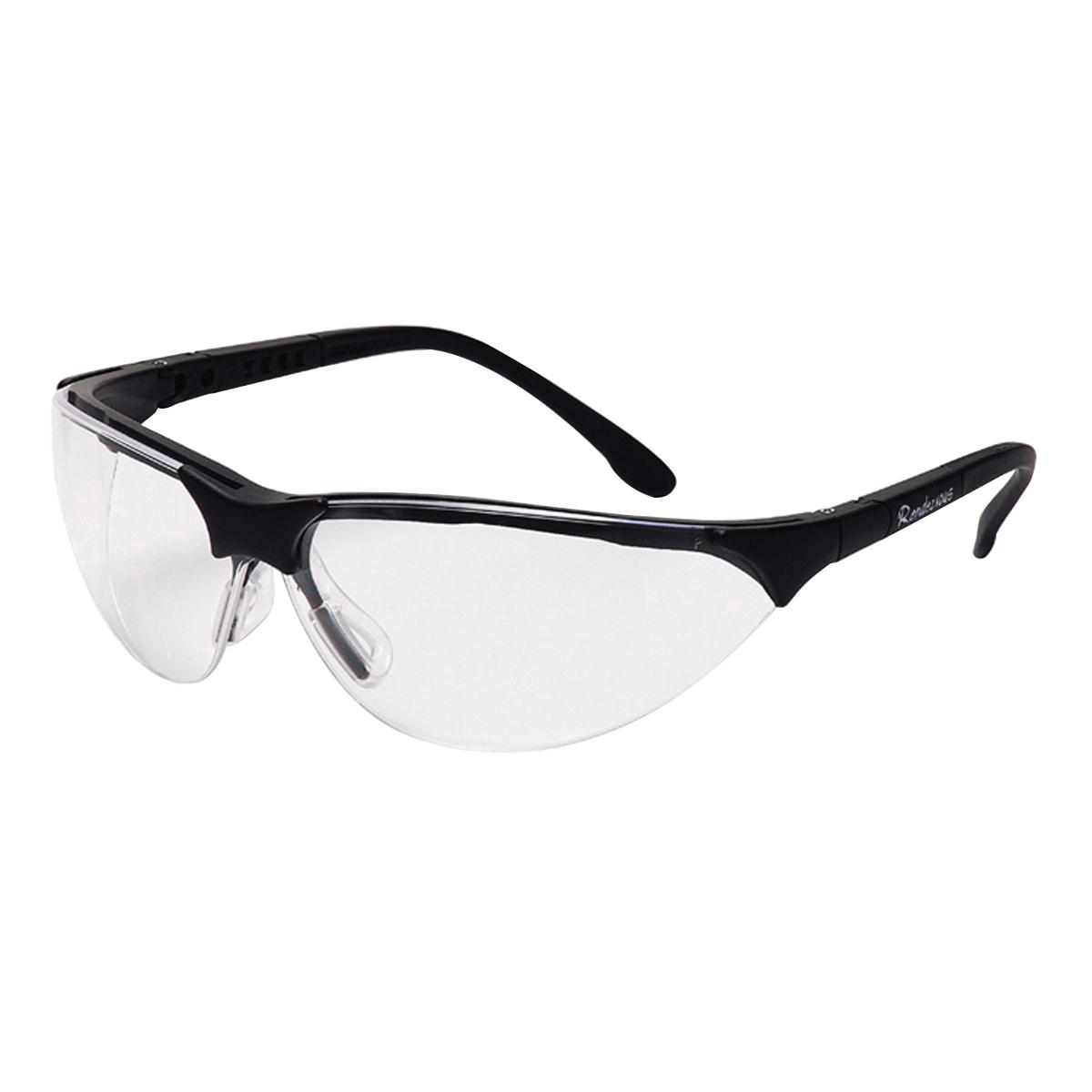 Pyramex® Rendezvous® Safety Glasses, Black Frame, Clear H2X Anti-Fog Lens