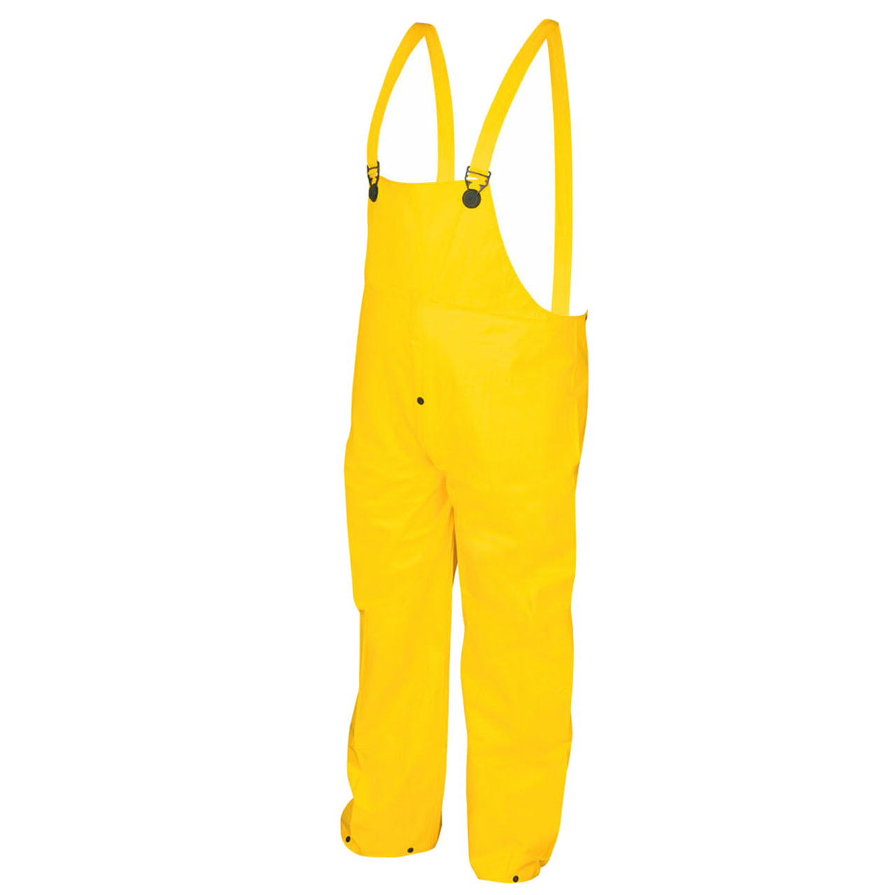 Wizard 300BP Waterproof, Bib Overall Rain Pants with Fly Front, Yellow
