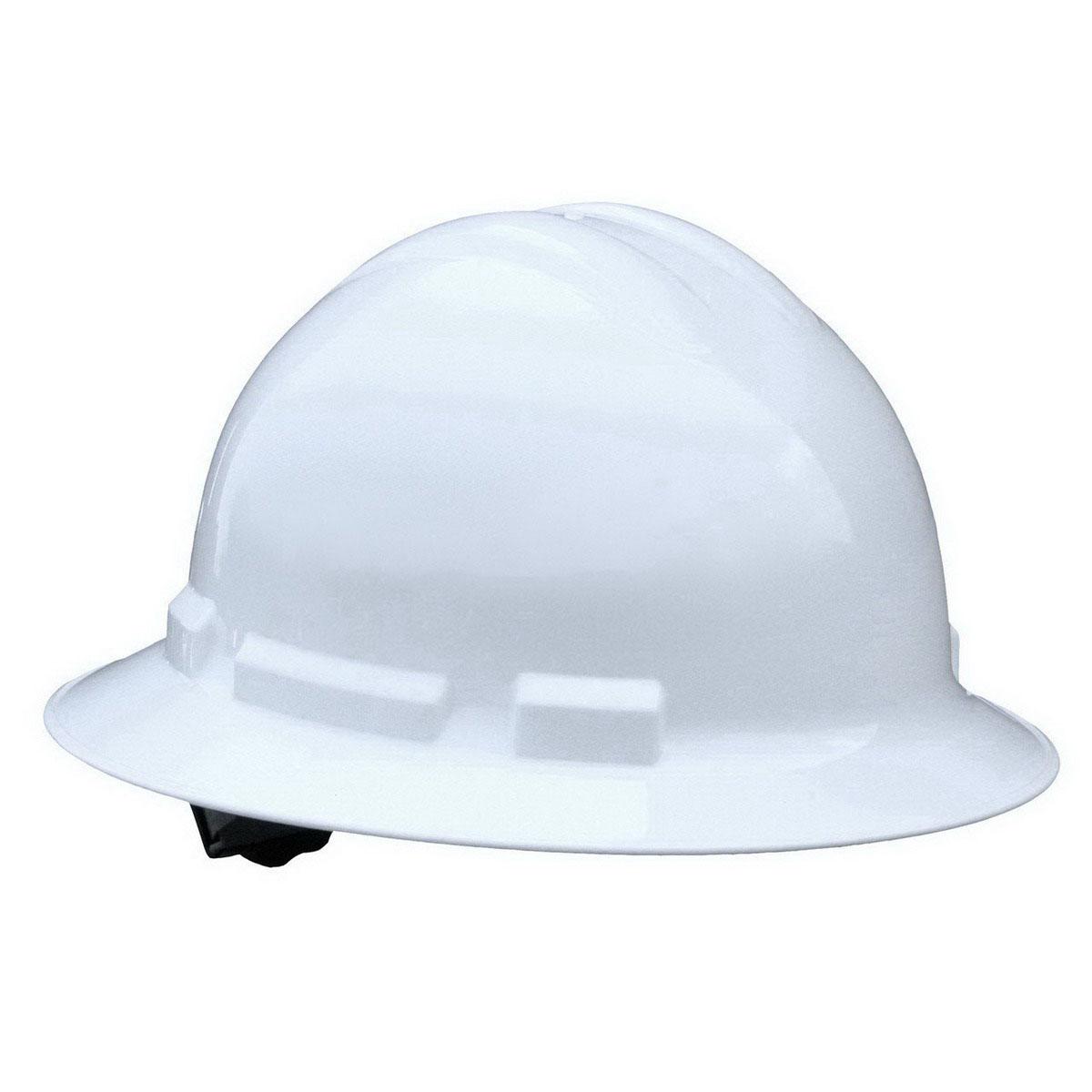 Radians® QHR4-White Full Brim Hard Hat - 4-Point Ratchet Suspension
