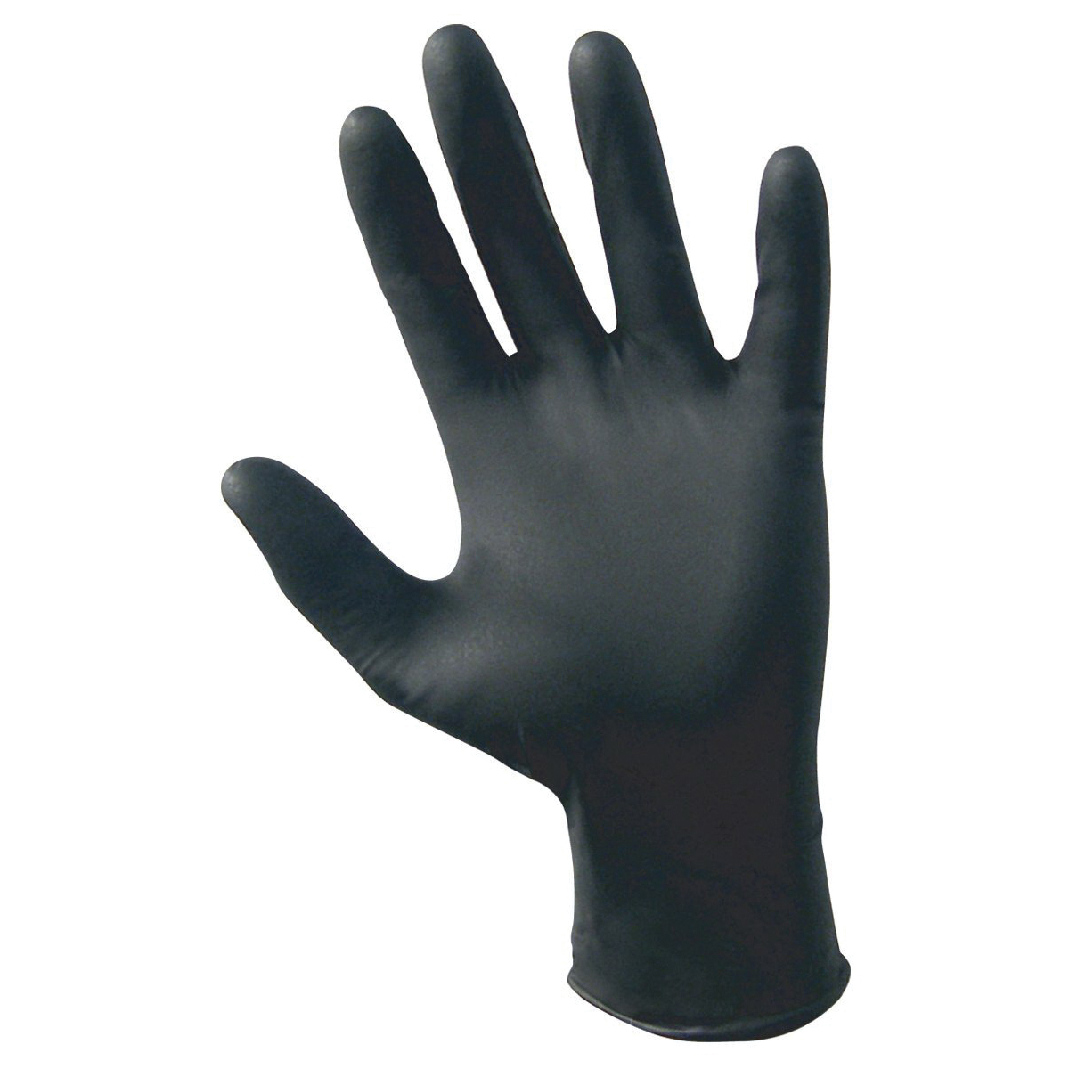 SAS RAVEN® Nitrile Exam Gloves, Black 6 mil Powder Free, 100/bx