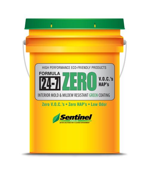 Sentinel 24-7 ZERO (White) Interior Mold & Mildew Resistant Coating, 5 Gal