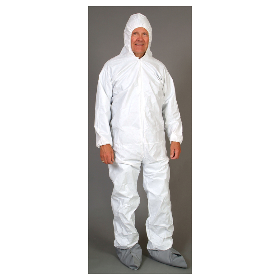 Seattle Glove Microporous Coverall, Elastic Wrist, Attached Hood & Boot, 25/cs