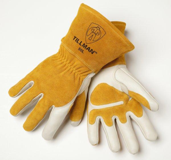 Tilman® 50 Premium Top Grain MIG Welding Glove, Reinforced Palms, XL