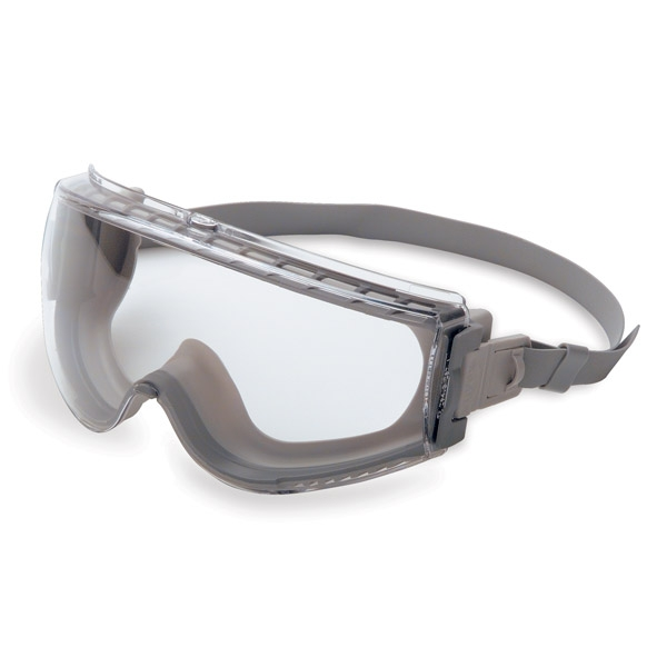 Uvex® by Honeywell Stealth® Protective Goggles, Neoprene Band, Gray Frame, Uvextreme AF Clear Lens
